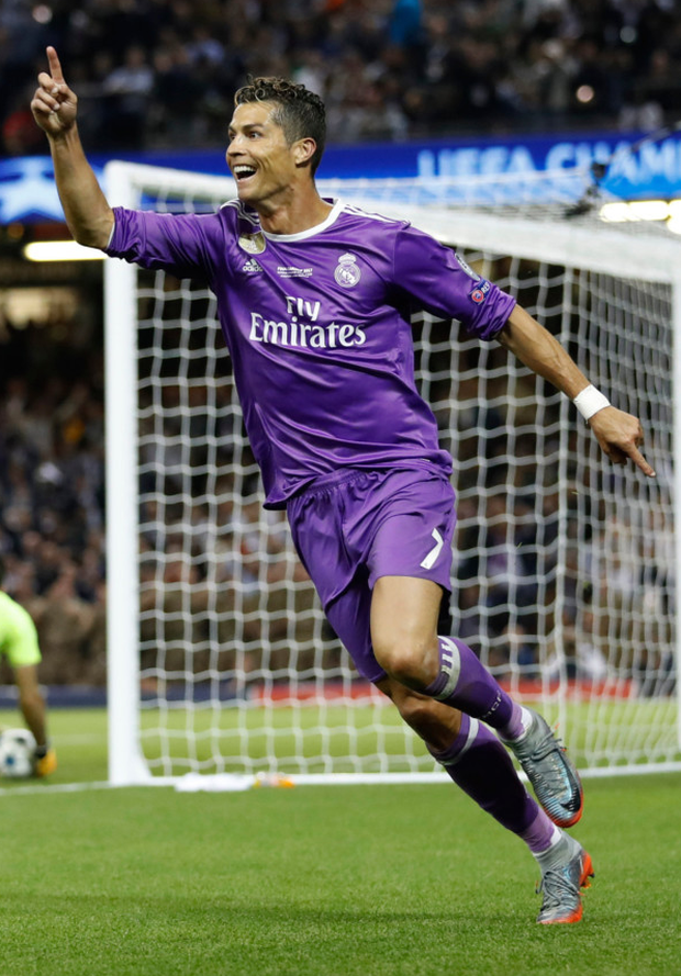Scoring for Real Madrid in the recent Champions League final win over Juventus.