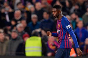 STILL AN OPTION: Barcelona's Ousmane Dembele is said to be back on Liverpool's shopping list,