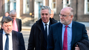HAVING A BAD WEEK: (l-r) FAI President Donal Conway, FAI Executive Vice President John Delaney and Fran Gavin, FAI Director of Competitions, on their way to face the Oireachtas committee on Wednesday Pic: Sportsfile