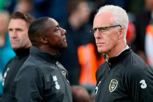 STRIKER ISSUES: Ireland manager Mick McCarthy has overseen an unbeaten start to their Euro 2020 qualifying group, but a lack of goals could cost Ireland dearly. Pic: PA