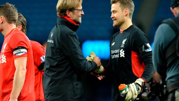 """Liverpool manager Jurgen Klopp has claimed he is """"absolutely satisfied"""" with goalkeeper Simon Mignolet"""