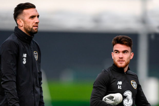 Brighton clubmates Shane Duffy (left) and Aaron Connolly can play a big roll for Ireland against Georgia