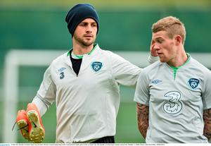 Shane Long and James McClean. Picture credit: David Maher / SPORTSFILE