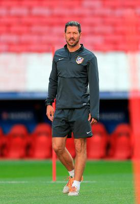 Atletico Madrid were given a big boost with the news that coach Diego Simeone will be staying on next season. Photo: PA Wire