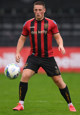 Dan Casey of Bohs is focused on the win that would secure European football