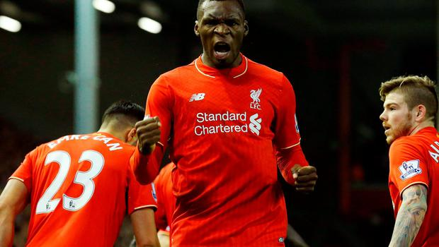 Christian Benteke has had discussions with manager Jurgen Klopp Photo:AFP/Getty