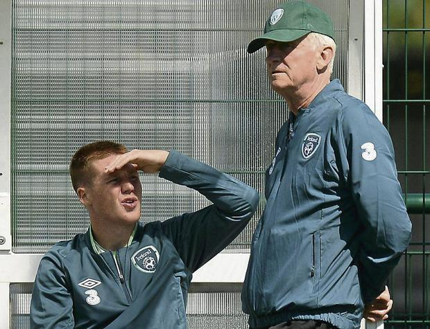 Republic of Ireland manager Giovanni Trapattoni and James McCarthy. Picture: David Maher / SPORTSFILE