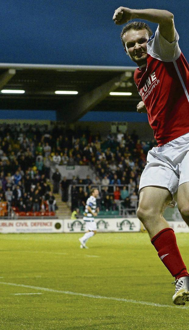READY FOR BATTLE: St Patrick's Athletic midfielder Conan Byrne