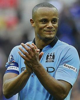 INJURED: Vincent Kompany