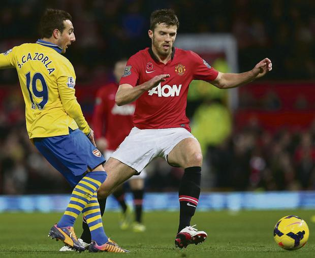 Manchester United midfielder Michael Carrick. Picture: Alex Livesey/GETTY IMAGES