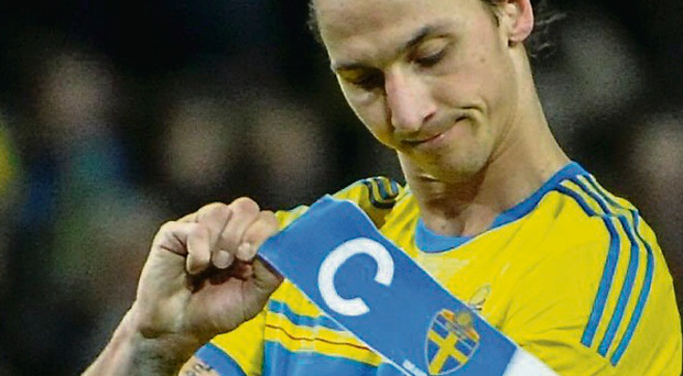 Sweden's Zlatan Ibrahimovic won't be going to the World Cup. Picture credit: AP/TT/Erik Martensson
