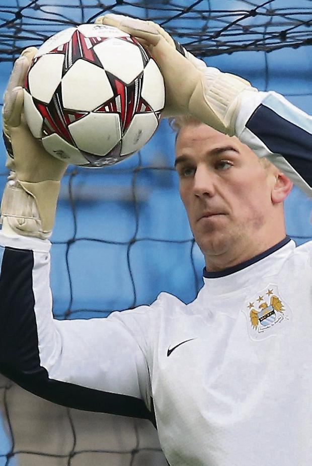 Man City keeper Joe Hart. Picture credit: Alex Livesey/Getty Images