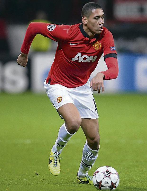 Manchester United's Chris Smalling. Photo: Lars Baron/ Bongarts/ Getty Images.