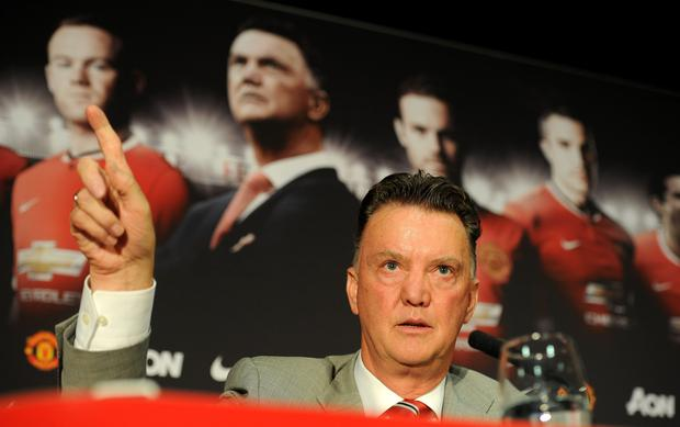 Manchester United manager Louis van Gaal. Photo: Martin Rickett/PA Wire