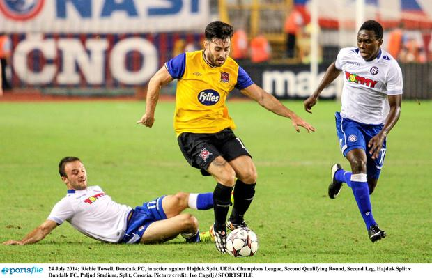 Richie Towell, Dundalk FC, in action against Hajduk Split. Picture: Ivo Cagalj/SPORTSFILE