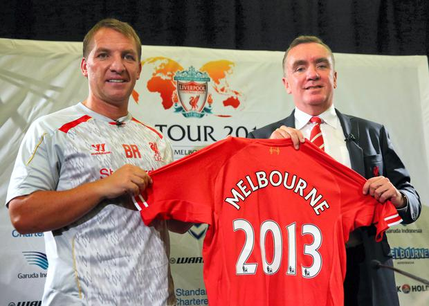 Liverpool FC Manager Brendan Rodgers and Managing Director Ian Ayre