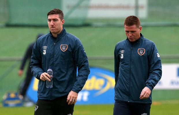 Stephen Ward and James McCarthy