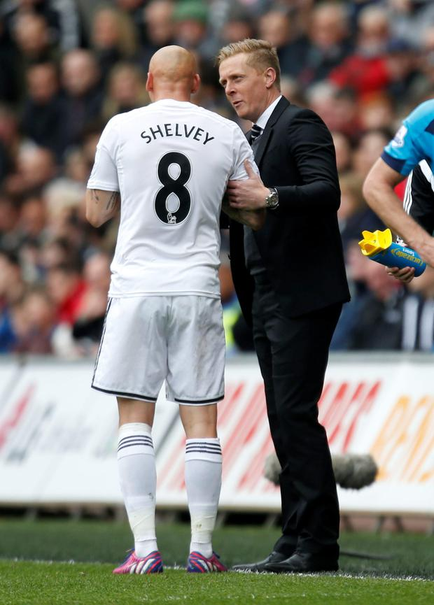 Garry Monk with Shelvey