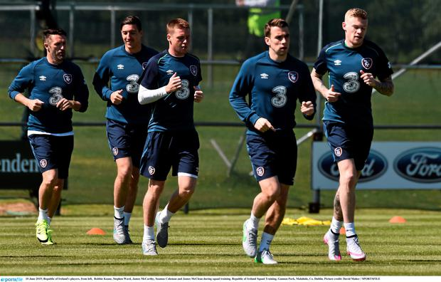 The Ireland squad training in Malahide