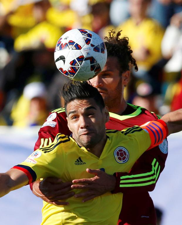 Falcao in action for Columbia