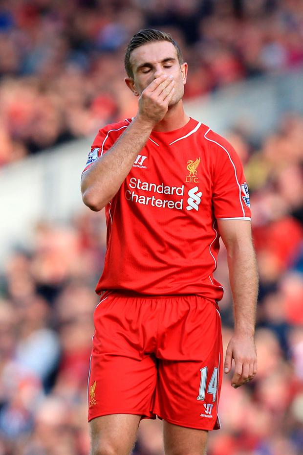 Jordan Henderson: still haunted by memories of Liverpool's 6-1 capitulation against Stoke