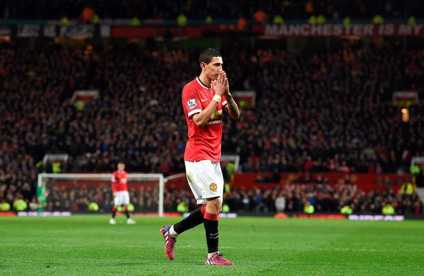 Manchester United manager Louis van Gaal is puzzled why Angel di Maria (pictured) has, so far, failed to join United's US tour