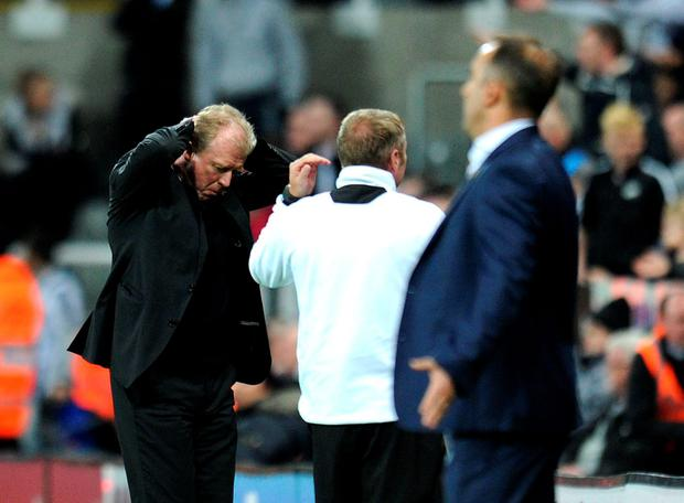 Newcastle boss Steve McClaren after the game