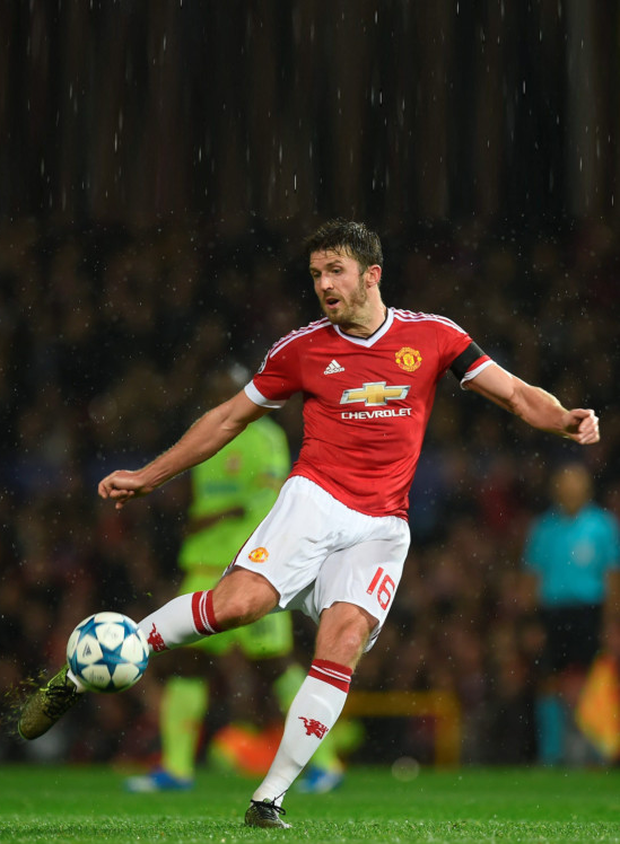 Manchester United veteran Michael Carrick, pictured in action against CSKA Moscow on Tuesday night, has responded to critics of United's style of play under manager Louis van Gaal