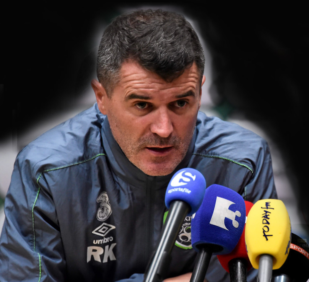 Republic of Ireland assistant manager Roy Keane at yesterday's press conference