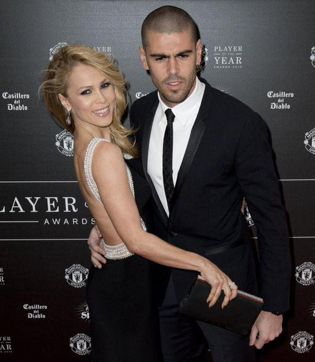 Victor Valdes and his wife Yolanda Cardona