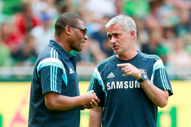 Chelsea technical director Michael Emenalo and departed manager Jose Mourinho (Getty)
