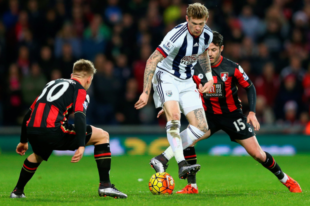 West Brom's James McClean (Getty)