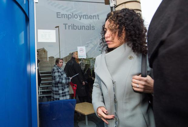 Eva Carneiro arrives at Croydon Employment Tribunal for an initial preliminary hearing