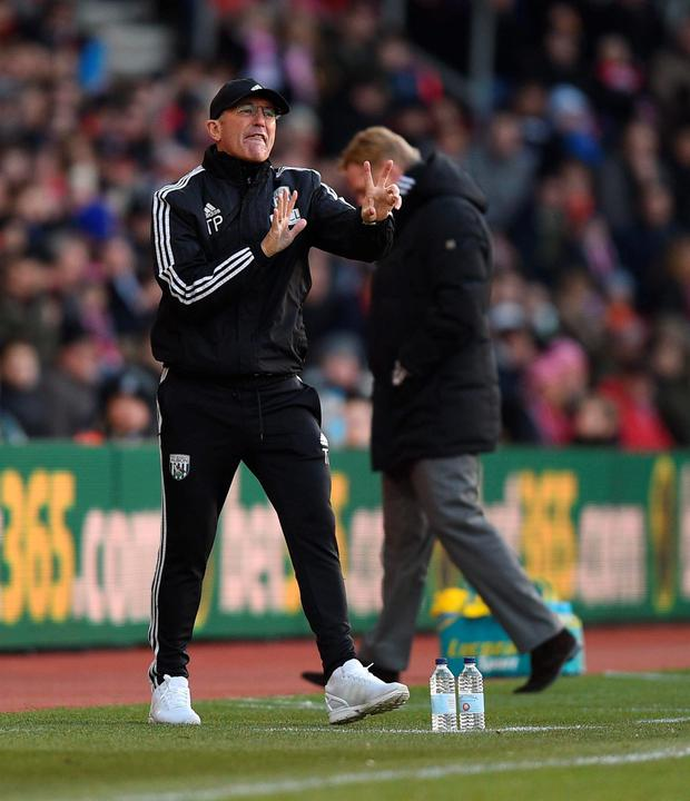 West Brom boss Tony Pulis. Photo: PA