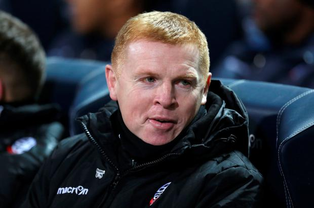Bolton boss Neil Lennon. Photo: PA