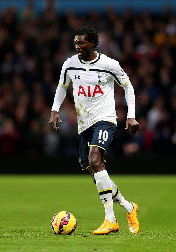 Emmanuel Adebayor. Photo: PA