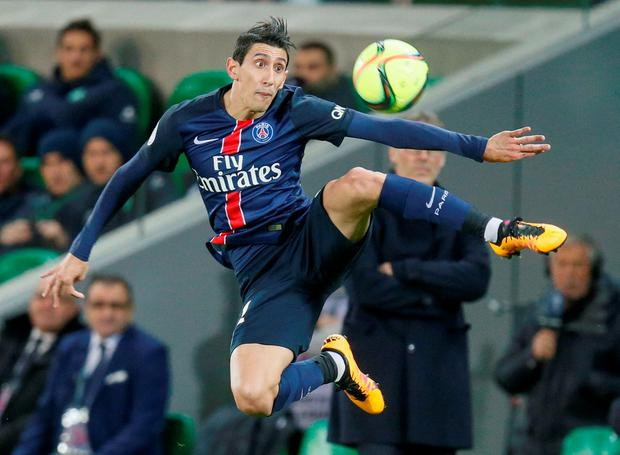 Angel Di Maria controlling the ball Photo: Reuters