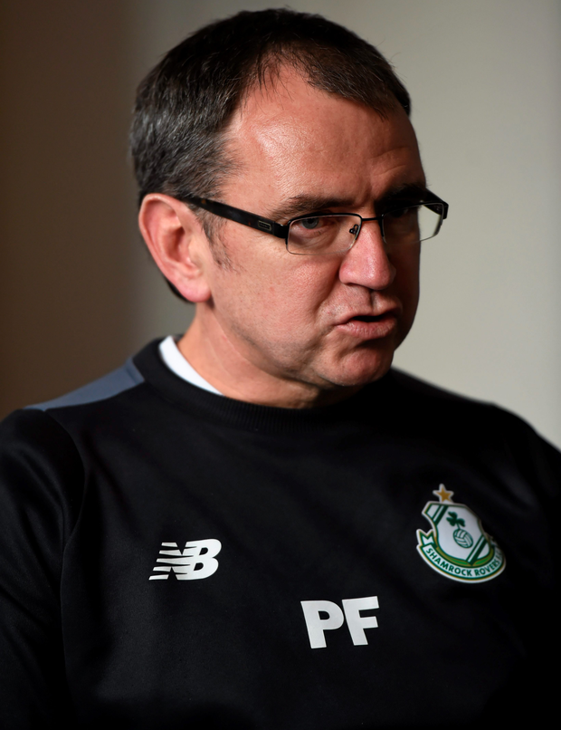 Rovers boss Pat Fenlon. Photo: Stephen McCarthy/Sportsfile