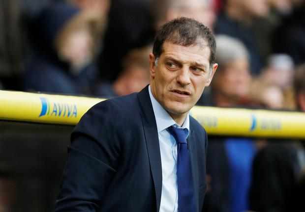 West Ham boss Slaven Bilic. Photo: Reuters