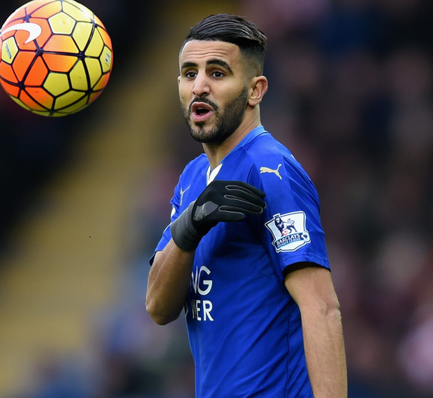 Leicester's Riyad Mahrez. Photo: Getty Images