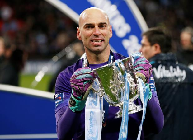 Picking second-choice keeper Willy Caballero paid off in Sunday's League Cup final win over Liverpool and Pellegrini Photo: Reuters