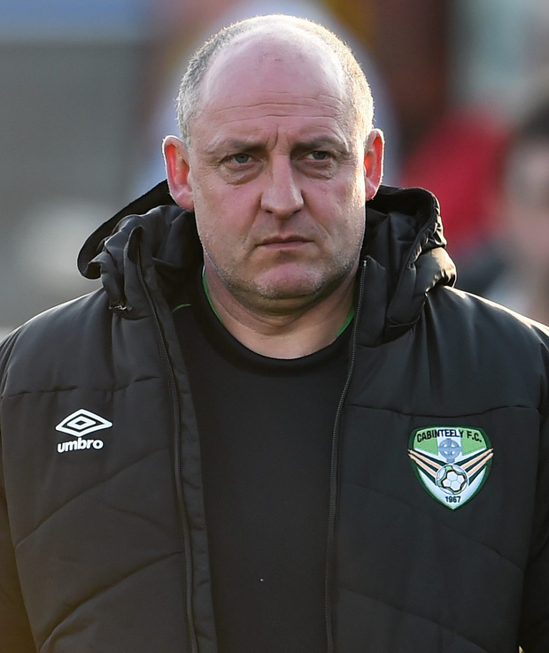 Cabinteely manager Eddie Gormley is hoping the club's support grows in tandem with their long-term League of Ireland project Photo: Sportsfile