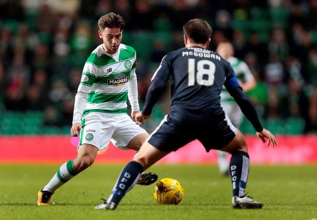 Patrick Roberts (l) in action Photo: Reuters