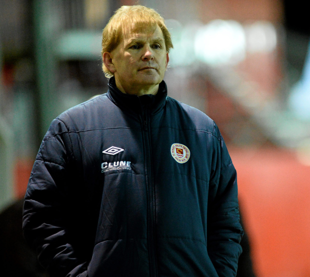 St Patrick's Athletic manager Liam Buckley is pictured during last Friday's Premier Division defeat to Galway United Photo: Sportsfile