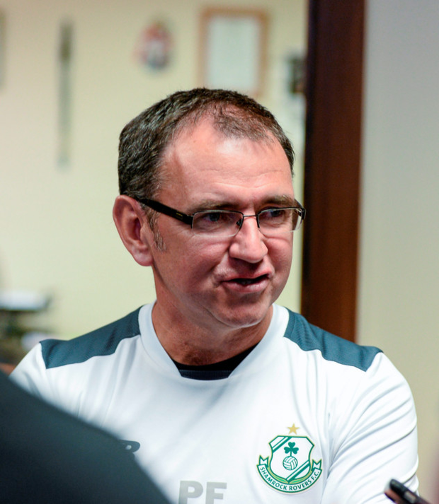 Shamrock Rovers manager Pat Fenlon is keen to bring attendances at Tallaght Stadium back up to the levels of early last season as he seeks to follow up last week's win at Sligo with a victory at home to Wexford Youths tonight. Photo: Sportsfile