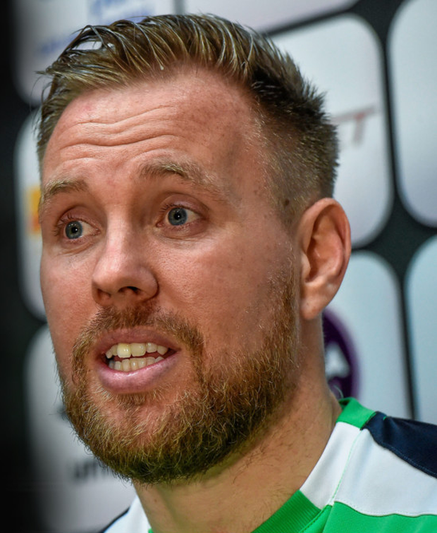 Rob Elliot during a Republic of Ireland press conference at the National Sports Campus, Abbotstown. Photo: Sportsfile