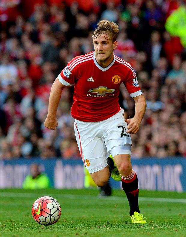 United's Luke Shaw. Photo: PA