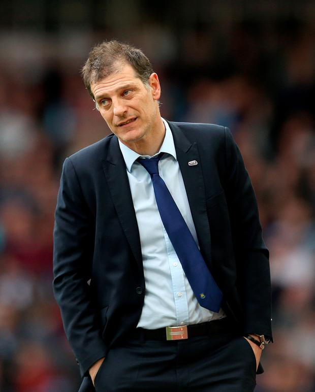 West Ham boss Slaven Bilic is aiming to put a big dent in Arsenal manager Arsene Wenger's Premier League title aspirations tomorrow Photo: PA