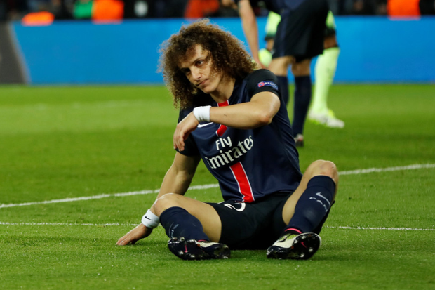 Paris St Germain's Brazilian defender David Luiz Photo: Reuters