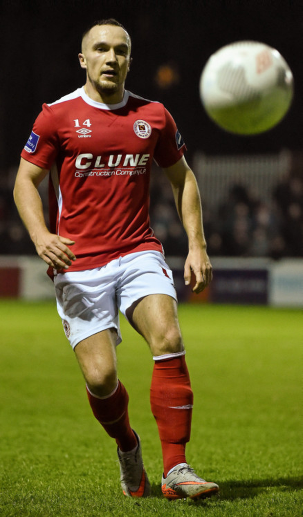 St Patrick's Athletic midfielder Graham Kelly is relishing a challenge for the Premier Division title this season Photo: Sportsfile
